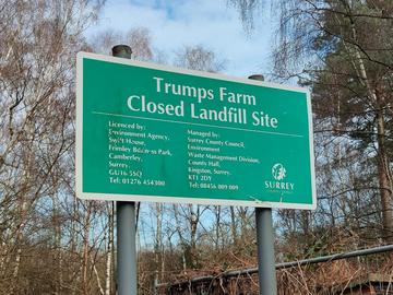 Trumps Farm Sign