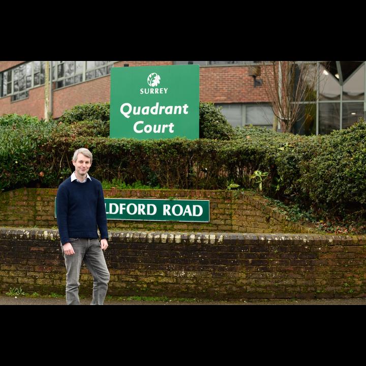 Will Forster outside Quadrant Court